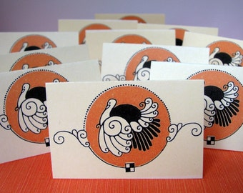 Elegant Holiday Thanksgiving Turkey Place Cards Mini Notes Tags Set of 12