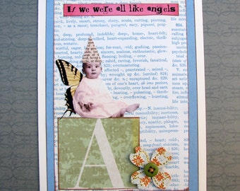 Shabby Altered Art Fairy Baby Angel Card