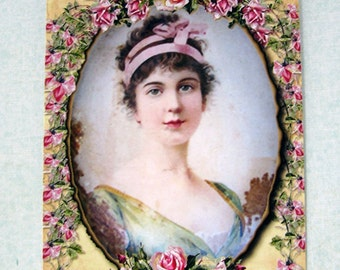 Vintage French Victorian Lady Gift Tags