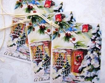 Vintage Christmas Time Gift Tags