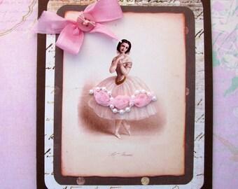 Ballerina Dancer Card