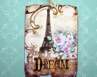 Paris Eiffel Tower Gift Tags Dream