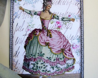 Dancing Marie Antoinette French Gift Tags