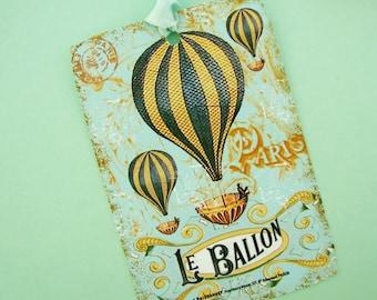 Le Balloon French Hot Air Ballon Tags Series One