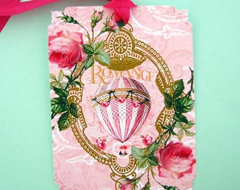 Hot Air Ballooning French Chic  Gift Tags