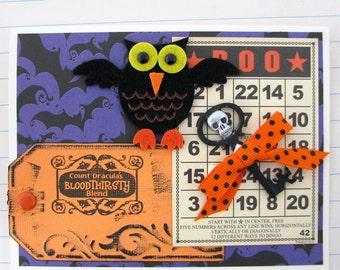 Owl Halloween Collage Card
