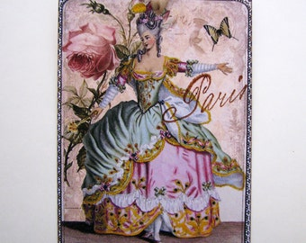 Marie Antoinette  in Paris French Gift Tags