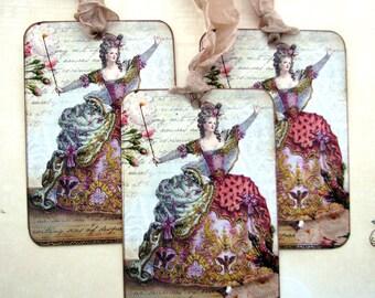 Shabby Marie Antoinette Gift Tags Romantic