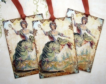 Marie Antoinette Gift Tags Shabby French Romantic