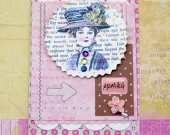 Vintage Shabby Card Victorian