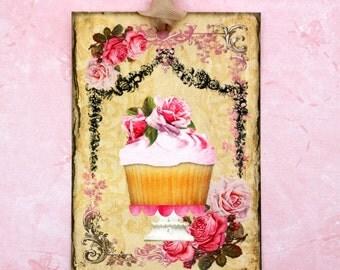 Cupcake Paris Chic Birthday Gift Tags