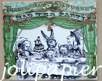 Mad Tea Party Card Invitations Set