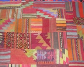 Colorful Turkish Tent Wrapping and Kilim Patchwork Custom Rugs