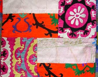 Patchwork Cotton Silk Suzani Pillow Cover Bazaar Bayar