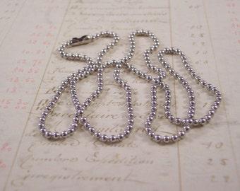 Ball Chain  24 inch Silver Tone