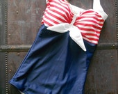 Pin Up Sailor Retro One piece swimsuit Made to order