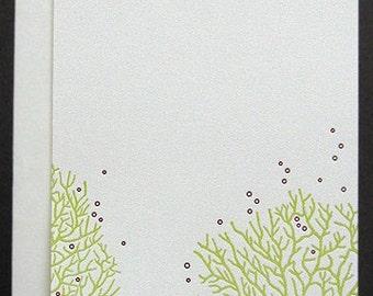 Letterpress Boxed Imprintables (Coral)