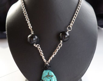 Turquoise Focal Point Necklace
