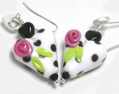 Parisian Picnic Lampwork Earrings