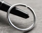 15mm 14g Conch Piercing Jewelry / Seamless Hoops - Endless Hoop Earrings in 14 gauge solid sterling silver