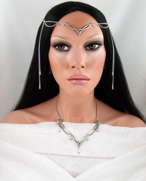 Headpieces For Weddings Ireland: Ailinn Celtic Bridal Wedding Set Circlet/Headpiece