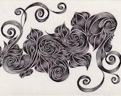 Original ACEO Nouveau Swirls