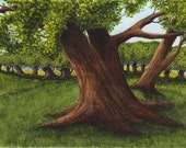 Original ACEO Field of Trees