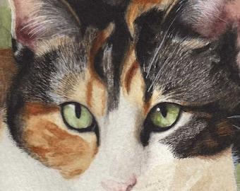 Japanese Mi-Ke Cat Print