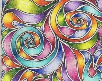 ACEO Reproduction Rainbow Swirls