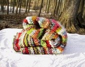 Every Color Crocheted Blanket