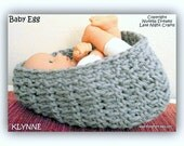 KLYNNE Cozy Newborn Bowl Egg Crochet Pattern-Photography Prop-Awesome Texture-Q Hook-Only 16 Rounds