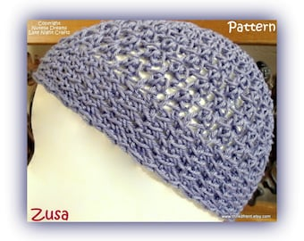 PATTERN- Kippah Pattern for the Ladies -All Religions-Awesome Texture-Longer Length for Clip Free Comfort