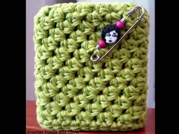 Crazy Easy Kitschy Kozy Tissue Box Cover-Crochet E-Pattern-Embellish To Make One Of  A Kind Creations