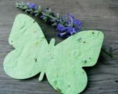 30 Butterflies - Plantable Handmade Paper - Tags or Baby Shower Favors with Wildflowers or Herb Seeds