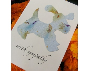 100 Custom Bulk Order Sympathy Cards with Forget-Me-Not Seeds - Envelopes Included