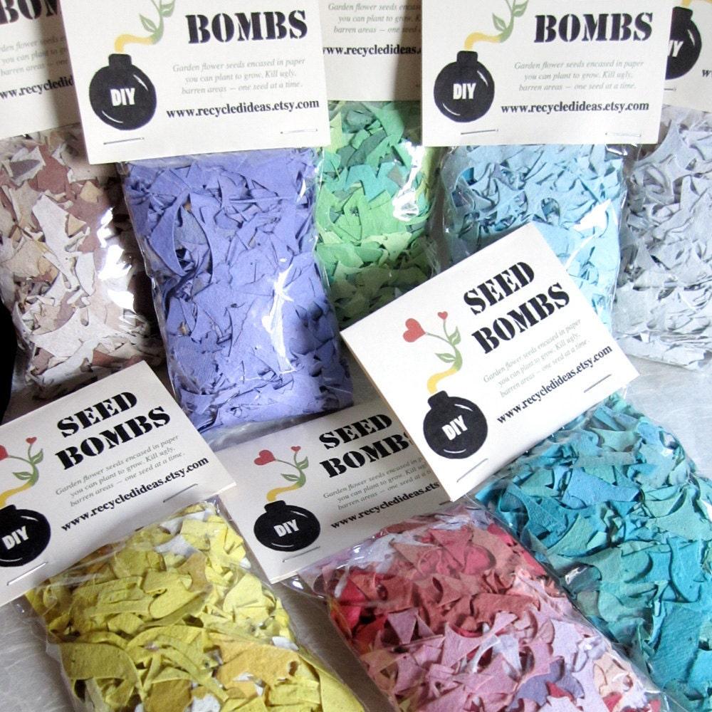 seed bombs diy plantable paper kit 5 bags flower seeds