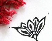 Lily Fan STAMP- Hancarved