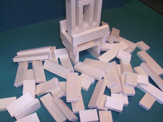 80 Piece Set of Wooden Building Blocks