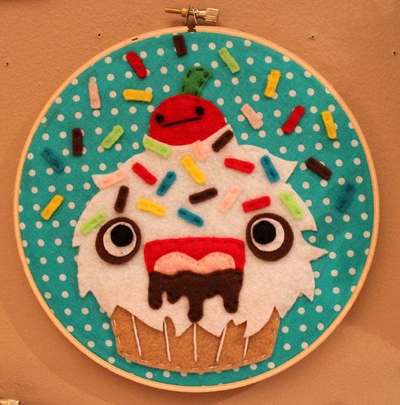 ON SALE- Monster Cupcake Hoop