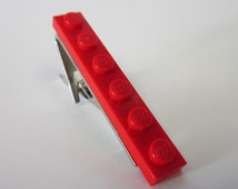 Tie Bar Clip made with Bright Red LEGO® plate