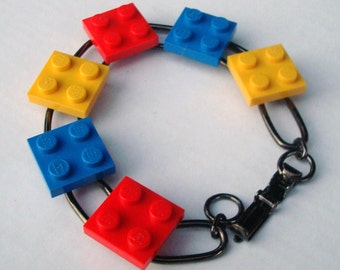 link bracelet primary squares of LEGO® bricks