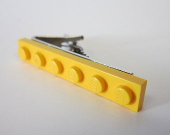 Yellow Brick Tie clip made with LEGO® plate