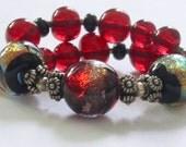 Reserved for flirtjewellery Little bit of FIRE lampwork Beads