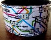 Tokyo Metro Transit Map Cuff