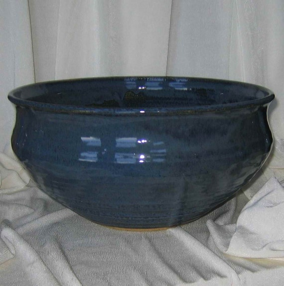 Dark Blue Huge Serving Bowl