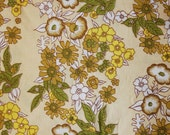 vintage yellow and green floral sheeting