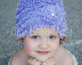 The Original Lace Ruffle Flapper Beanie by Chic Baby Rose in 21 Colors
