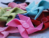 Wool Felt Pinwheel Hair Clip, Band or Bobby Pin - The Carnival Collection by Chic Baby Rose