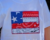 Boy Bandanna USA Flag Tee by Chic Baby Rose
