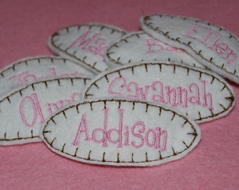 Personalized Wool Felt Name Clip Party Pack by Chic Baby Rose